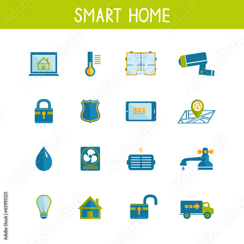 Smart Home Automation Technology Icons Set