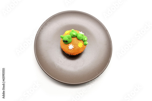 funny cupcake with caterpillar