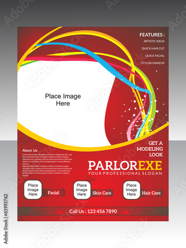 abstract parlor flyer template