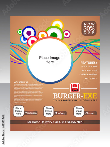 abstract burger flyer template