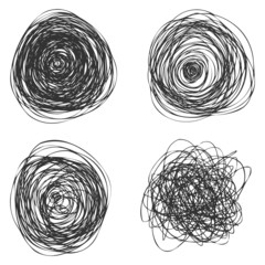 Vector Abstact Chaotic Round Sketch © nikiteev