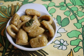 Homemade gnocchi with whole wheat flour