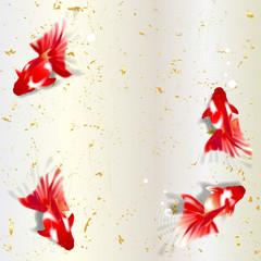 金魚 和紙 和柄