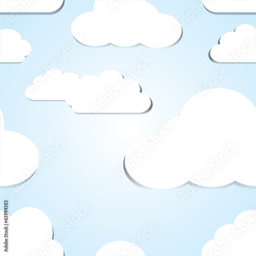 Sky seamless pattern