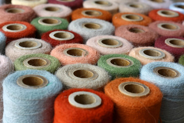Collection of Natural Colored Vintage Thread Spools