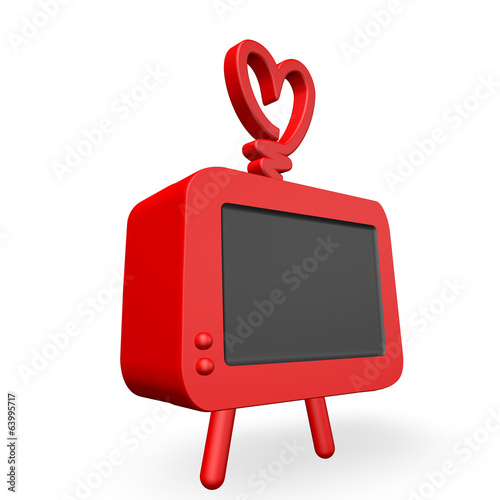 3d render of an old style cool funky televsion
