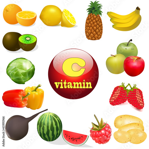 vitamin C in foods of plant The origin of the