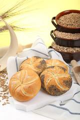 pane sfondo composizione di cereali