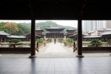 Chi Lin Nunnery in Diamond Hill District of Hong Kong