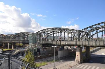Munich, gare, pont, hackerbrücke