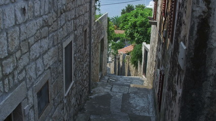 Typical dalmatian street in Cavtat, Croatia