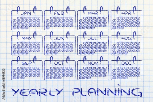 calendar for planning, reaching your goals, measuring business p
