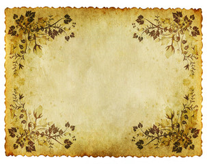 old grunge floral paper background