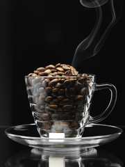 coffe beans cup