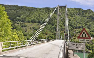 Fyksesund, Hardangerfjord, Fjord, Brücke, Sommer, Norwegen