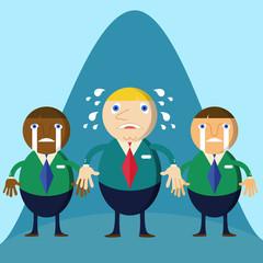 Business man cartoon character loser