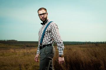 Redneck nerd man