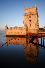 Belem Tower at Sunrise in Lisbon