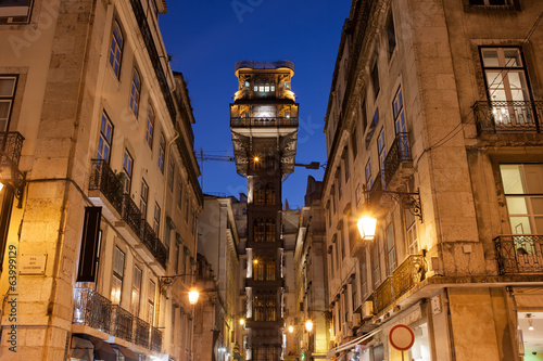Santa Justa Lift at Night