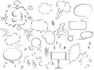bubble collection sketch drawing vector