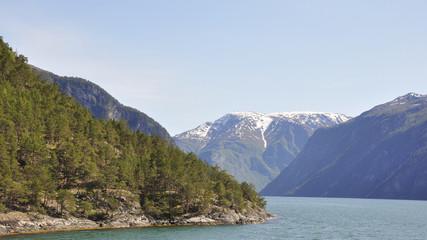 Laerdalfjord, Laerdal, Fischerdorf, Fähre, Sommer, Norwegen