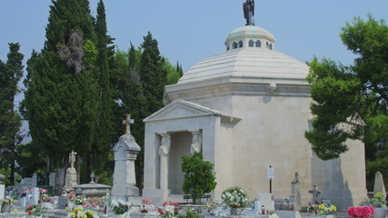 Cavtat tourist attraction is old town cemetery