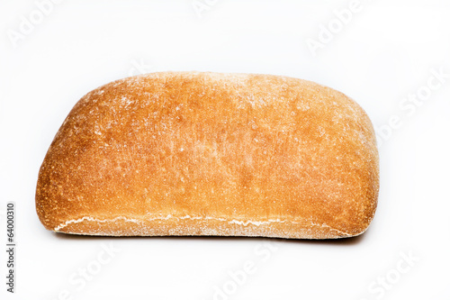 Fresh warm bun isolated on white background