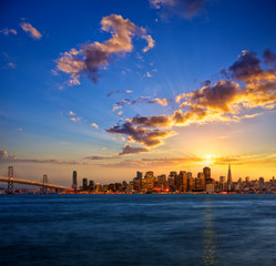 San Francisco skyline at sunset, California, USA