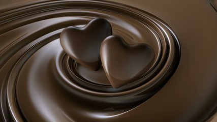 2 Schokoladenherzen