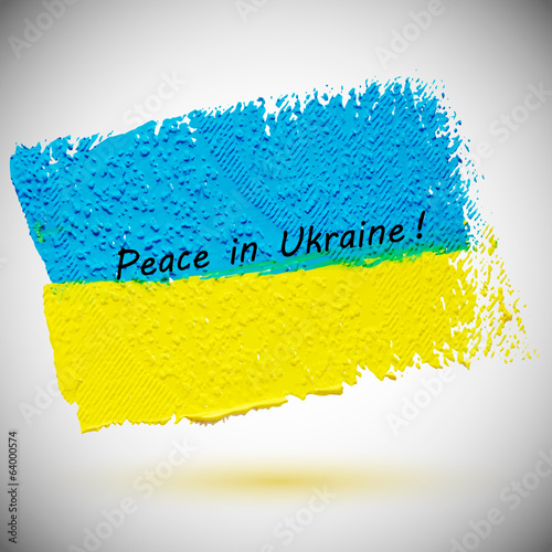 Yellow-blue flag of Ukraine, grunge vector illustration