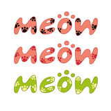 word meow vector poster