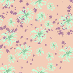 Seamless floral background for design.