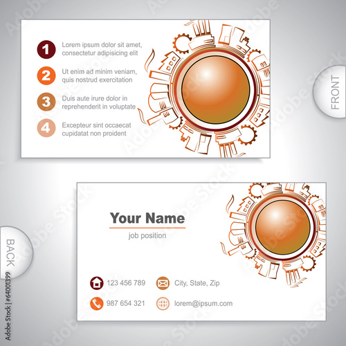 Universal Industrial business card