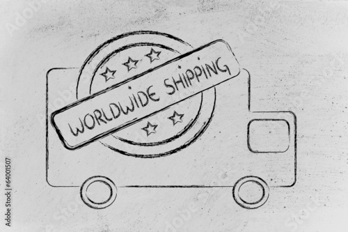 free worldwide shipping truck design