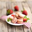 Macarons, Erdbeeren