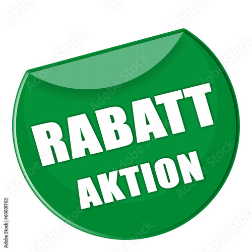 Button - Rabatt Aktion - grün - g877