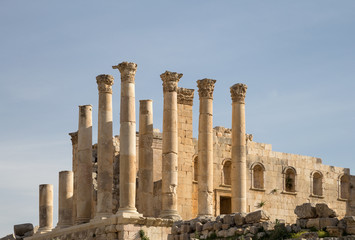Temple of Zeus, Jordanian city of Jerash  (Gerasa of Antiquity)