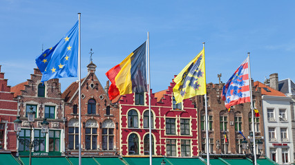 Flags in Bruges
