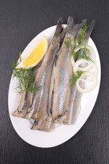 Fresh young herring
