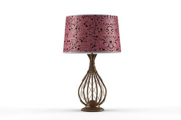 Настольная лампа на белом фоне