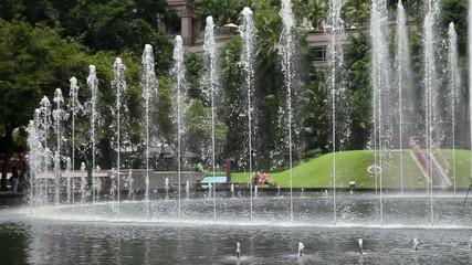 Фонтан в столице Малайзии, Куала Лумпур