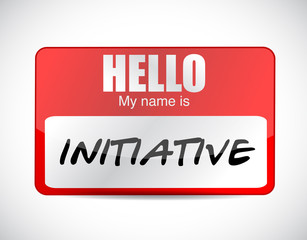 initiative name tag illustration design