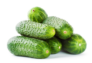 Pile of green cucumbers