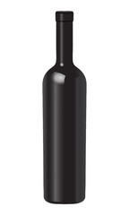wine bottle for mockup