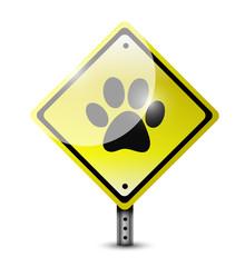 paw sign illustration design