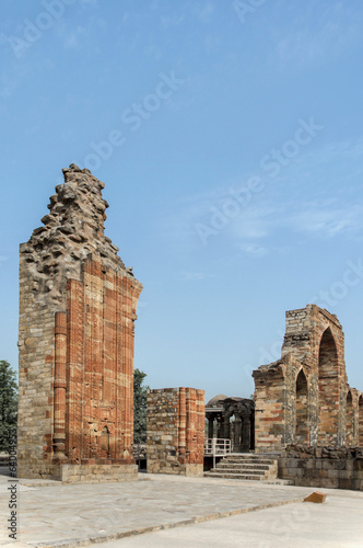 Qutub brick arch and ruins