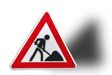 Schild Bauarbeiten