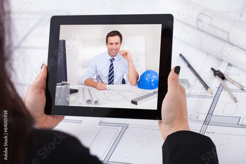 Architect Having Video Conference