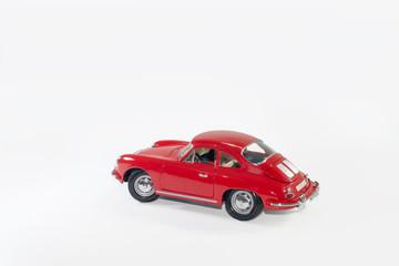 klasik kırmızı spor araba