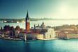 view of San Giorgio island, Venice, Italy